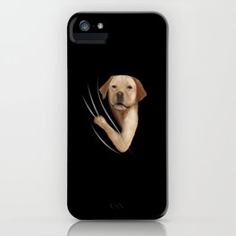 Labrador Animal Coming From Inside iPhone Case
