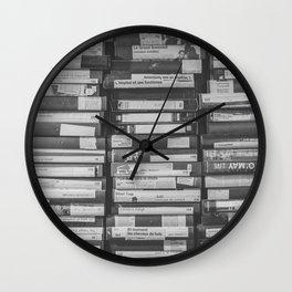 VHS Retro (Black and White) Wall Clock