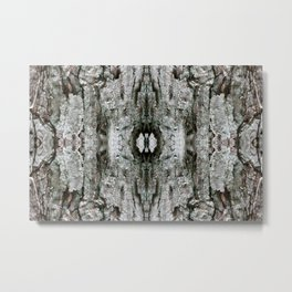 Abstract Maple Tree Bark - Natural Patterns - Maple & Lichen - Old Mossy Maple Tree Bark Metal Print
