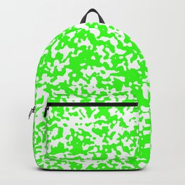 Small Spots - White and Neon Green Backpack