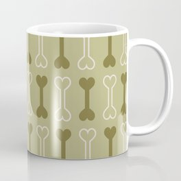Bone surface pattern (green) Coffee Mug