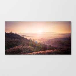 Outback Sunrise (full widescreen panorama) Canvas Print