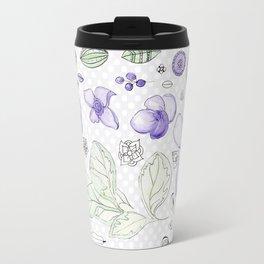 Violet Watercolor Travel Mug