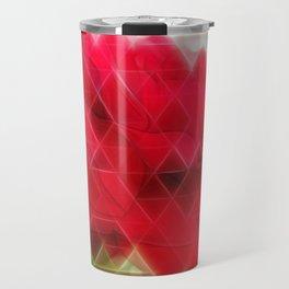 Red Rose Edges Art Triangles 2 Travel Mug