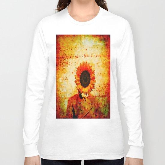 Head of sunflower Long Sleeve T-shirt