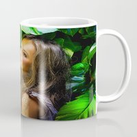amy hamilton Mugs featuring Amy by Robin Curtiss