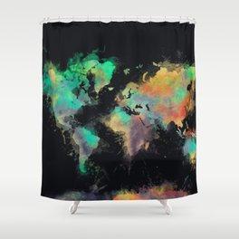 world map 107 #worldmap #map Shower Curtain