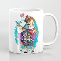 gravity falls Mugs featuring Gravity Falls Super Group Hug! by Super Group Hugs