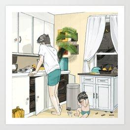 Kitchen, 3am Art Print