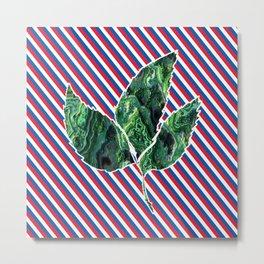 red blue leaf Metal Print