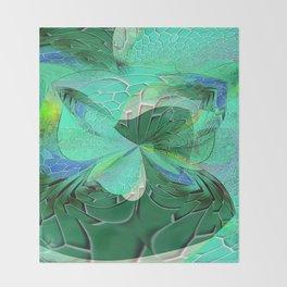 Seafoam Green Abstract 1 Throw Blanket