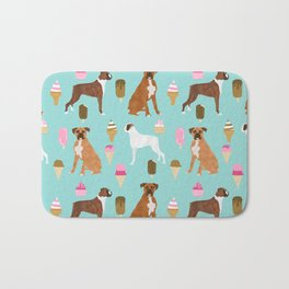 boxer ice cream dog lover pet gifts cute boxers pure breeds Bath Mat