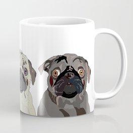 Triple Pugs Coffee Mug