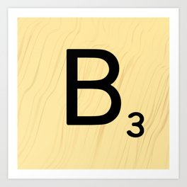 Scrabble B Decor, Scrabble Art, Large Scrabble Prints, Word Art, Accessories, Apparel, Home Decor Art Print