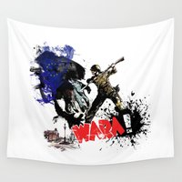 poland Wall Tapestries featuring Poland Wara! by viva la revolucion