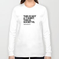 magritte Long Sleeve T-shirts featuring RENÉ MAGRITTE (S6 Tee Black) by THE USUAL DESIGNERS