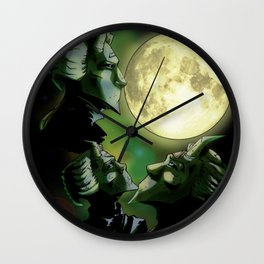 Three Ghoul Moon Wall Clock
