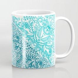 Teal Tangle Square Coffee Mug