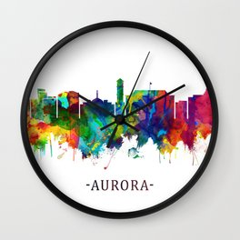 Aurora Colorado Skyline Wall Clock
