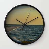 sailboat Wall Clocks featuring Sailboat by Damn_Que_Mala