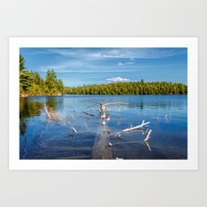 Smoke Lake Art Print