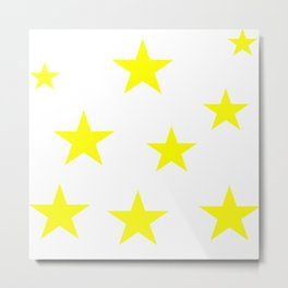 Minimalist Star Design Metal Print