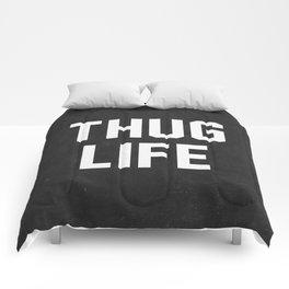 Thug Life - black Comforters