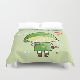 Hey Listen! Cute Link From Zelda Kawaii :) Duvet Cover