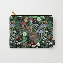 Rabbit and Strawberry Garden Carry-All Pouch