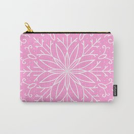 Single Snowflake - Pink Carry-All Pouch