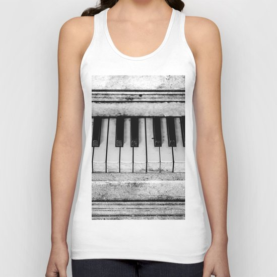 The piano Unisex Tank Top