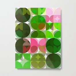 Pink Roses in Anzures 5  Abstract Circles 3 Metal Print