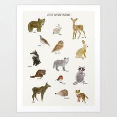 little nature friends Art Print