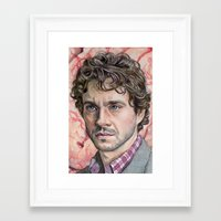 will graham Framed Art Prints featuring Will Graham by Mark Satchwill Art