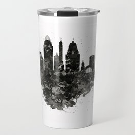 Cincinnati Skyline Black and White Travel Mug
