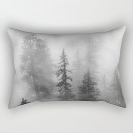 Forest In The Clouds - Nature Photography Rectangular Pillow