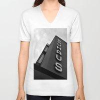 bauhaus V-neck T-shirts featuring bauhaus by Nat Alonso
