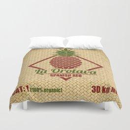 La Orotava Valley pineapple basket Duvet Cover
