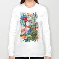 dragon Long Sleeve T-shirts featuring Dragon by oxana zaika