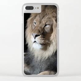 Portrait of a King Clear iPhone Case
