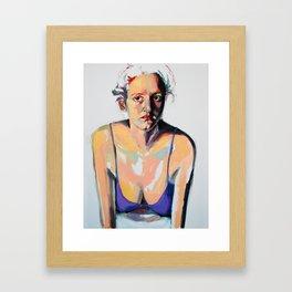 Portrait of Hannah Siegfried Framed Art Print
