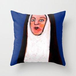 Nun One Throw Pillow