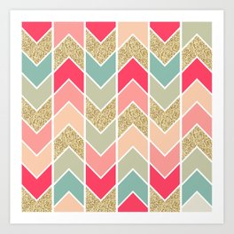 Distorted Chevron in Dream Sequence Art Print