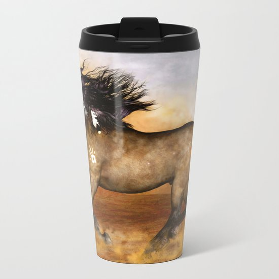 HORSE - Cherokee Metal Travel Mug