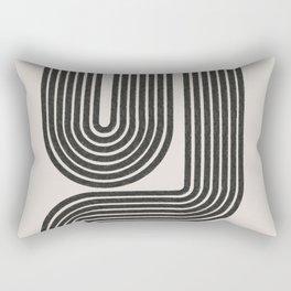 Mid Century Modern Line Rectangular Pillow