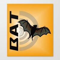 bat Canvas Prints featuring BAT by BATKEI