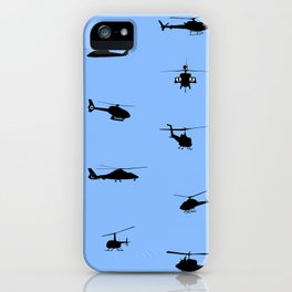 Helicopter Pattern iPhone Case