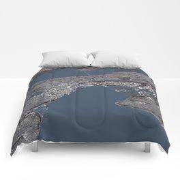Seattle City Map II Comforters