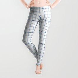 Dotted Grid Weave Blues Leggings