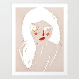 'messy hair' Art Print
